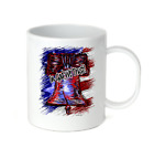 Coffee Cup Travel Mug 11 15 Oz Patriotic USA In God We Trust Liberty Bell