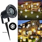 Outdoor Chritsmas Decorations LED Snowflake Projector Lights White Holiday For