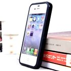 2pcs Hybrid tpu silicone middle bumper For iphone 4 4S Frame Cover Colors Cover