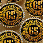 BLACK GOLD 65TH BIRTHDAY ANNIVERSARY AGE 65 EDIBLE CUPCAKE TOPPER K121