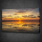 BEAUTIFUL SUNSET SEA PAINTING STYLE MOUNTED CANVAS PRINT WALL ART PICTURE PHOTO