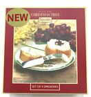 NEW Set of 4 Spode Christmas Tree Spreaders Hostess Gift Snack Cheese