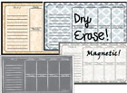 Ala Board Dry Erase Weekly Planner Magnet Board for home kitchen fridge TO-DO