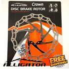 ALLIGATOR Crown Disc Brake Rotor 160mm 180mm 203mm - Black MTB Road Bike