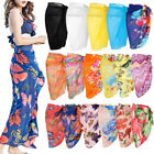 Womens Swimwear Chiffon Cover up Beach Sarong Swimsuit Wrap