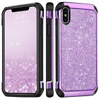 Luxury Sparkly Beauty Glitter Women Girl Case Cover for Apple iPhone X Purple