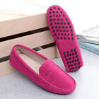 Women's Loafers Suede Leather Driving Shoes Lady Moccasins Peas Lazy Flats Comfy