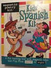 Magnetic Poetry Kids Spanish Kit 200 Magnetic tiles Spanish flip to English