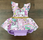 Baby - Newborn Baby Girls Unicorn Romper Jumpsuit Bodysuit Clothes Outfits Summer USA