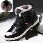 Men's Winter Warm Fur Lined High Top Shoes Casual Ankle Snow Boots Waterproof