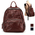 CASUAL VINTAGE EAGLE BACKPACK CAMPUS BOOK BACK REAL CREASE COWHIDE LEATHER