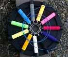 """Custom Jump Rope w/Blue cable 3/32""""dia(Gold Handles/Custom Ln) for X-Fitters"""