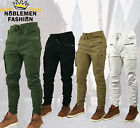 MEN SLIM STRETCH FIT SLIM FIT ZIPPER SHIRRING CARGO JOGGER PANTS P651