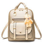 Fashion Women Girls PU Leather Shoulder School Travel Bag Backpack Rucksack