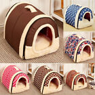 US Winter Soft Pet Dog Cat Bed House Kennel Mat Pad Warm Washable Puppy Cushion