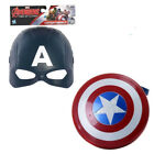 NEW Captain America Cosplay Motorcycle Helmet Shield Kids Boys Toy Birthday Gift