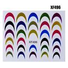 3D French Nail Art Transfer Stickers Color Design Cosmetic Tips Decal DQCA