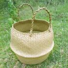 Foldable Seagrass Woven Potted Plants Storage House Flower Vase Hanging Basket@@