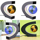 C Shape LED World Map Decoration Magnetic Levitation Floating Globe Light ~&