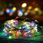 2x Solar powered Outdoor 10M/33FT 100LED Copper Wire Garden String Fairy Light