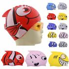 New Children's Cartoon Fish Swimming Cap Silicon Waterproof Protect Ear Shark Sh