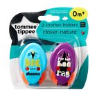 Tommee Tippee Closer To Nature Soother Holders Twin Pack CHOICE OF DESIGN A89