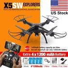 LOT Syma X5SW Wifi FPV Explorers 2.4G 4CH RC Quadcopter Drone HD Camera Black FH