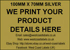 Printed Personalised Extra Large GOLD Address/ Product  Labels - 100mm x 70mm
