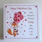 """Valentines Card Personalised Large 8x8"""" Card with or without box Handmade"""
