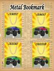 MONSTER TRUCK  METAL BOOKMARK IDEAL GIFT STOCKING FILLER OFF ROAD VEHICLE