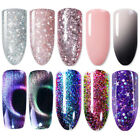 10ml Glitter Rose Gold Soak Off UV Gel Polish Thermal Cat Eye Nail Gel Varnish