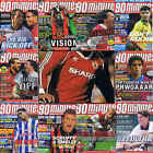 90 Minutes football magazine A4 player picture poster Manchester United VARIOUS