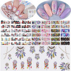 12Patterns Water Decals Nail Art Transfer Stickers Dream Catcher Animal