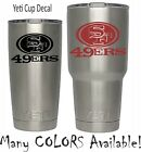 San Francisco 49ers Football Decal for NFL YETI Tumbler 20 30 Ozark RTIC Sticker