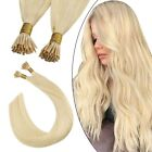 "18""-32"" Stick I Tip Remy Real Human Hair Extensions Straight Wavy Deep Full Head"