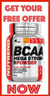 BCAA Mega Strong Powder + Glutamin 500g FREE OFFER Amino Acids Pouch by NUTREND