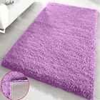 SMALL X LARGE SOFT PLAIN LILAC SHAGGY FLOOR RUGS BEDROOM MATS DINING ROOM CARPET