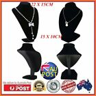 Black Mannequin Necklace Jewelry Pendant Display Stand Holder Show Decorate Co