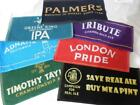 NEW BAR TOWELS,CAMRA ,FULLERS,ADNAMS,GREENE KING,TAYLORS,CORNISH,PALMERS ETC