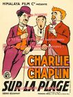 BY THE SEA 1920's Charlie Chaplin =POSTER Very Large 3 1/2 x 6 1/2 - 7 Feet Long