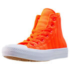 Converse Ct All Star Ii Zebra Knit Hi Unisex Orange Mesh Casual Trainers Lace-up