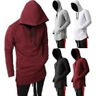 VW Mens HOODIE Zipper longline Elongated Hipster Hip Hop Fashion Sweater QUILTED