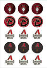 Arizona Diamondbacks Edible Print Cupcake/Cookie Toppers Frosting Sheets 2 Sizes