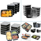 Microwaveable Meal Prep Food Containers BPA Free Plastic Lunch Box Lids Reusable