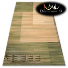 "TRADITIONAL AGNELLA RUGS green rectangles ""STANDARD"" modern designs carpet"