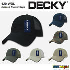 Decky Relaxed Trucker 6 Panel Pre Curved Bill Snapback Baseb