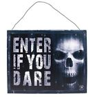 Anne Stokes Metal 'Enter If You Dare' Sign   (W50)