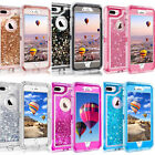 Внешний вид - For Apple iPhone Models Glitter Liquid Defender Clear Bling Quicksand Case Cover