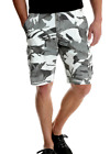 Mens Wrangler Gray & White Camo Cargo Shorts Relaxed Fit At Knee ALL SIZES 34-46
