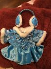 NEW Build-A-Bear BLUE ICE SKATING SKATER OUTFIT WHITE FUR & EAR MUFFS CLOTHES